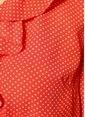 Just Female V Yaka Mini Anvelop Elbise Kırmızı
